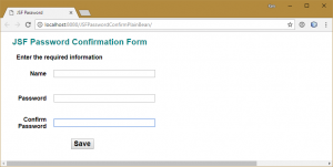 Screen capture of password form